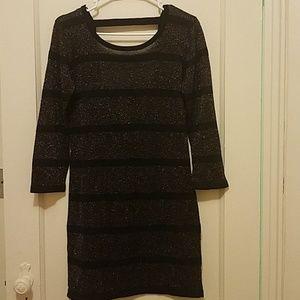 Joyce Leslie Striped Glitter Dress